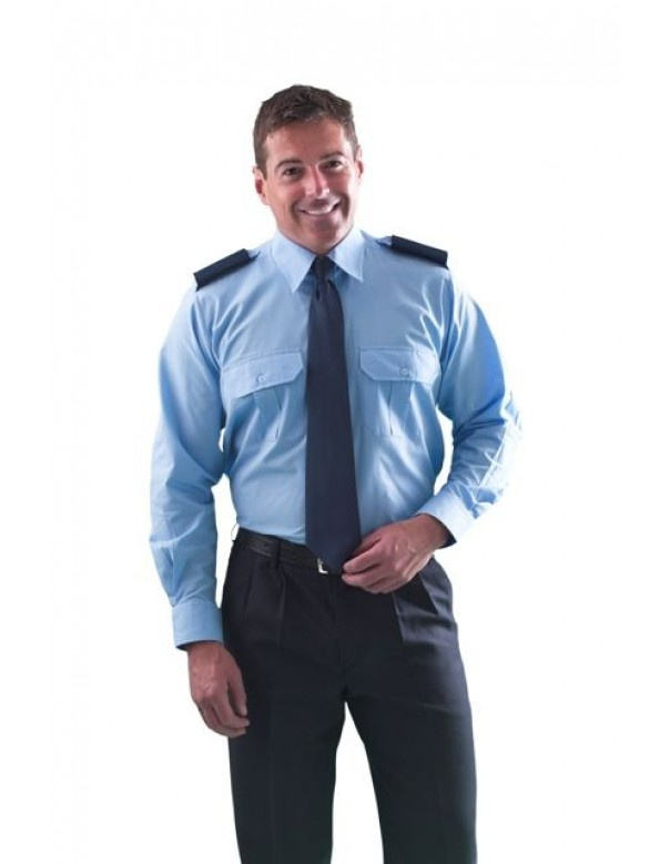 men's long sleeve pilot shirt