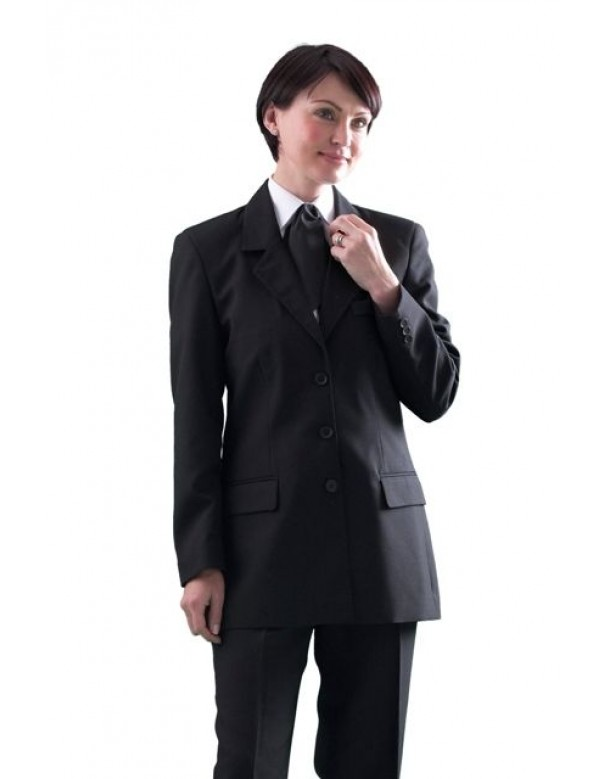 women's long single breasted work jacket