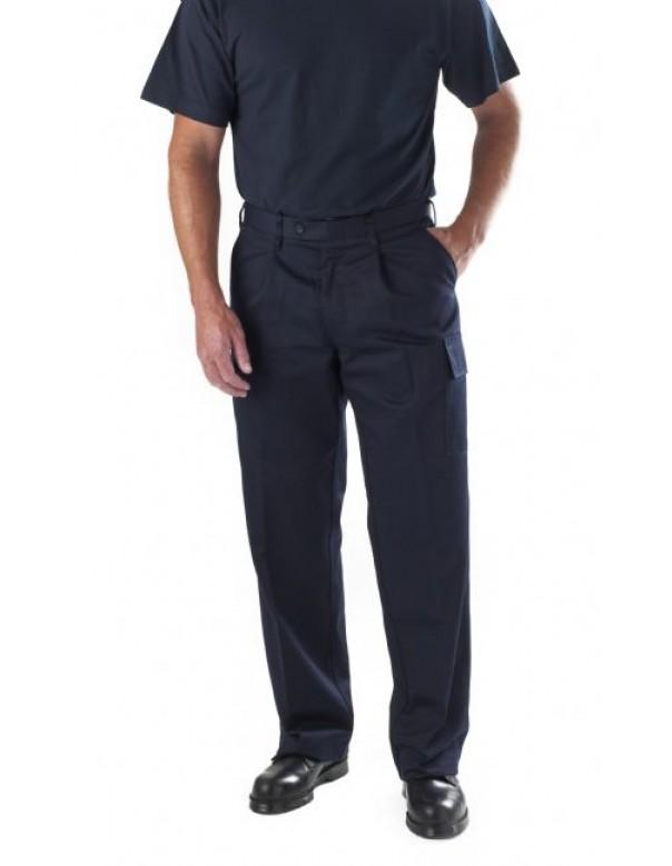 men's navy cargo work trousers