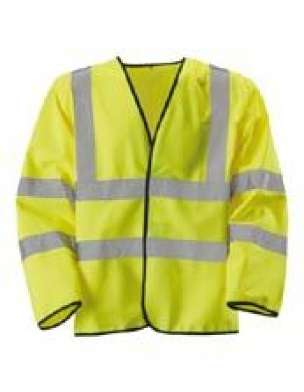 hi vis long sleeve waistcoat