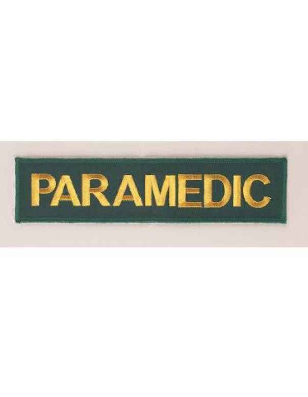 large paramedic embroidery badge