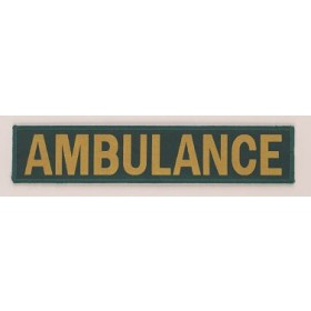 ambulance embroidery badge