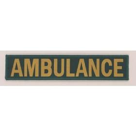 large ambulance embroidery badge