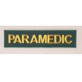 paramedic embroidery badge
