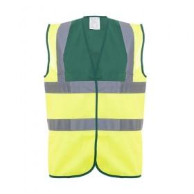 Hi-Vis Yellow & Green Waistcoat