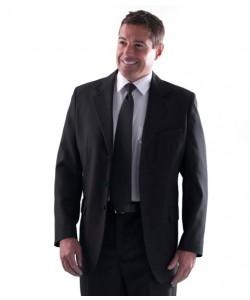 men's black single breasted blazer