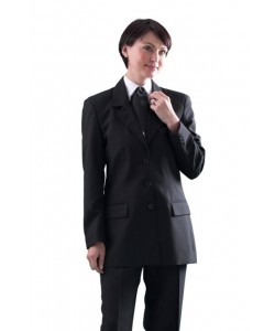 ladies single breasted work jacket