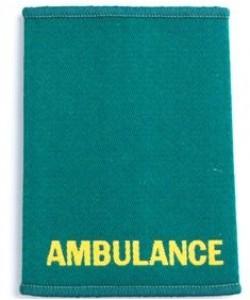 ambulance epaulette sliders