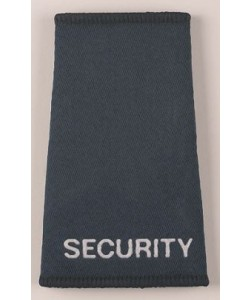 security embroidered slider epaulettes