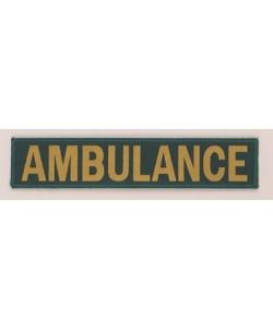ambulance embroidery badge